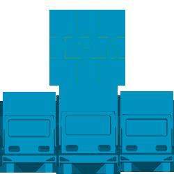 HAM Italia, attraverso il gruppo di appartenenza Grupo HAM, possiede un'importante flotta composta da quasi un centinaio di camion per il trasporto di GNL